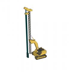 Piling rig 3D CAD block