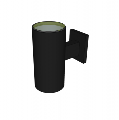 Double outdoor wall light sketchup model