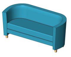 Crescent Sofa Revit Family