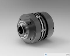 Autodesk Inventor 3D CAD Model of Clutch-Brake, 1.125 in Bore, 1/8 NPT Port Size, 750 RPM