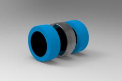Fusion 360 (step file) 3D CAD Model of wheel Ø 160    Load Capacity  60 Kg
