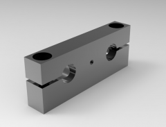 Solid-works 3D CAD Model of Screw jack system assecccories,  fixed Traverses,  A=160 25X56   D=25 D1=13,5E=132