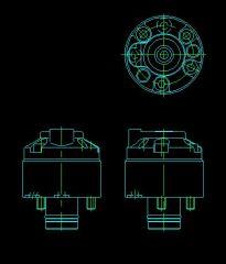 751 Leckfreie Kupplung mit Rückschlagventil CAD-Modell dwg Zeichnung