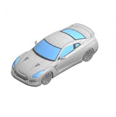 Revit bloque de Nissan GTR