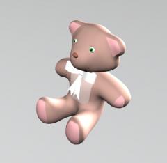 Teddy bear 3DS Max model