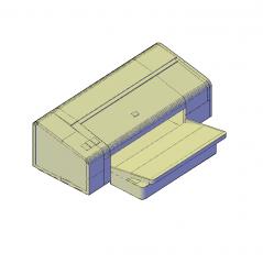 Deskjet printer 3D DWG block