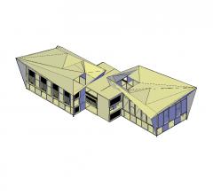 Convention centre 3d dwg model