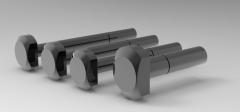 Autodesk Inventor 3D CAD Model of Bolt for T Slot M8X40