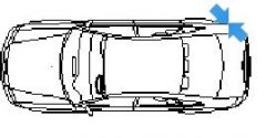 Audi A4 in top view dwg model