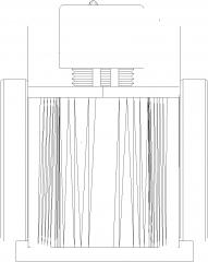 760mm Width Hair Wash Basin Barber Chair Rear Elevation dwg Drawing