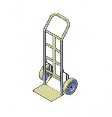 Hand trolley 3D DWG model