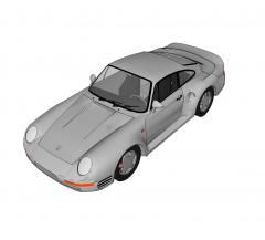 Porsche 959 sketchup model