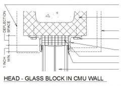 Glass Block in CMU wall dwg