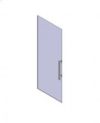 Frameless glass door Revit object