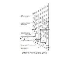 Landing Detail - Dwg CAD di scale di cemento