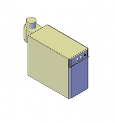 Heating boiler 3D DWG block