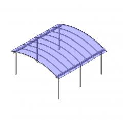 Arched carport Revit block