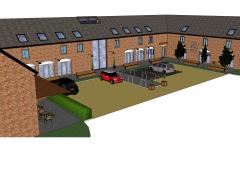 Rural Business-Park SketchUp-Modell