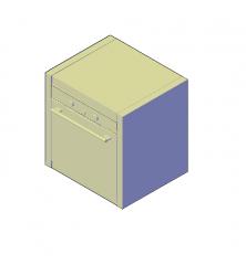 Built in oven range 3D models
