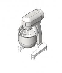 Kitchen food mixer revit model