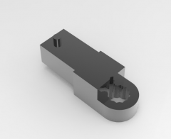 Solid-works 3D CAD Model of  Mechanical tools spanner key Ring ends:  E(mm)=10A(mm)=12 D(mm)=20L(mm)=15Mass(g)=38
