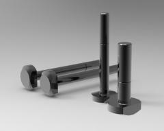 Autodesk Inventor 3D CAD Model of Bolt for T Slot M8X50