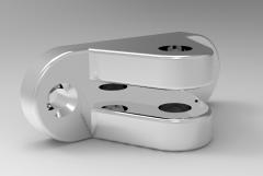 Solid-works 3D CAD Model of Aluminium bracket 1
