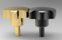 Solid-works 3D CAD Model of Knob with threaded screw, D=M5, L=40
