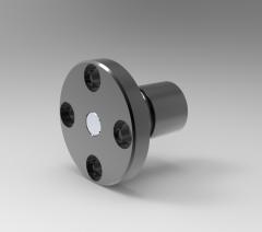 Solid-works 3D CAD Model of Ball Spline with flange type nut, Ø=21L(mm)33Df=42H= 6P.C.D.(mm)=32
