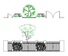 Iron Fence and Wall dwg