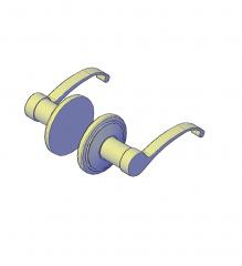Modern door handle 3D CAD model