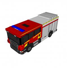 Modello di abbozzo di camion dei pompieri