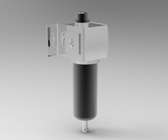 Autodesk Inventor 3D CAD Model of Pneumatic Filter, 1/4 NPT Port Size