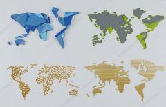 Decoración de paredes mapa de colores mundo 3ds max