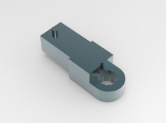 Autodesk Inventor ipt file 3D CAD Model of Mechanical tools spanner key Ring ends:  E(mm)=12A(mm)=16 D(mm)=27L(mm)=15Mass(g)=50