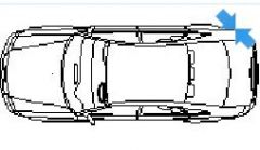 Audi A6 in top view dwg model