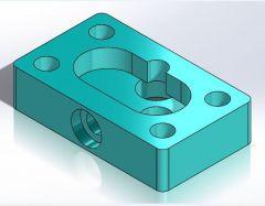806 Корпус шестеренчатого насоса CAD Модель dwg. Рисование