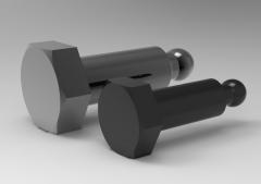 Autodesk Inventor 3D CAD Model of  Spherical Hexagon Steel screw,   M8-L25
