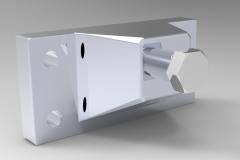 Solid-works 3D CAD Model of Aluminium bracket 3