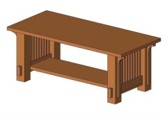 Table - Coffee Revit Family 7