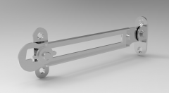 Solid-works 3D CAD Model of Rotary Latches For Left Side,L=150(L1)=105W1=28W2=23t=1.5