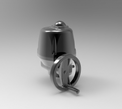 Solid-works 3D CAD Model of 3-phase 400V  90° ATEX electric actuator,Torque=25-1000Nm, Torque 150Nm,  triphase 50/60Hz