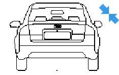 Audi A6 in elevation view dwg model