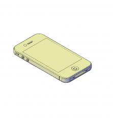 Iphone 4 3D CAD block