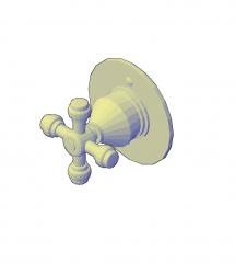 запорный клапан воды модель 3D AutoCAD