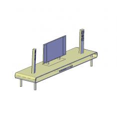 Modello 3D AutoCAD in TV curva