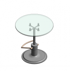 Height adjustable glass table revit family