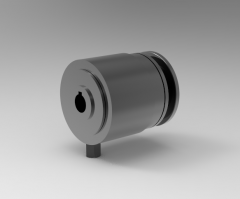 Autodesk Inventor 3D CAD Model of Friction Clutch, 0.6250 in Bore, Shaft Mounted, 1/8 NPT.
