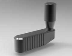Autodesk Inventor ipt file 3D CAD Model of Balanced handles crank type L=90h=15 H=52,5, R=35,    l=23