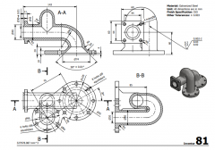 3 & 5 Axis CNC Machinable 2D CAD Drawing 81